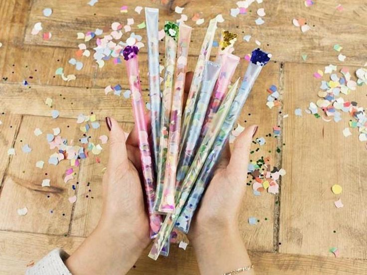DIY-Anleitung: Konfetti-Sticks selber machen via DaWanda.com