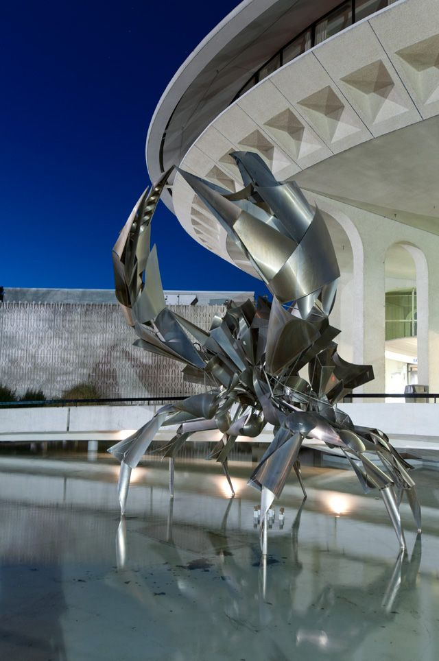 Metal Crab Sculpture at the entrance of the Museum of Vancouver #blurrdMEDIA #Architecture #Photography