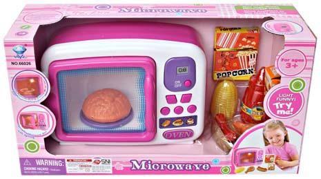 Oven Microwave lucu untuk melengkapi dapur si kecil. Dilengkapi dengan suara,lampu yang bisa menyala,jagung,ayam,saus dll,membuat bermain makin menyenangkan