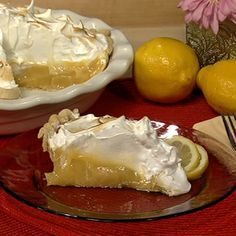 Carla Hall's Lemon Meringue Pie.    http://beta.abc.go.com/shows/the-chew/recipes/Lemon-Meringue-Pie-Carla-Hall    The first dessert Carla fell in love with.