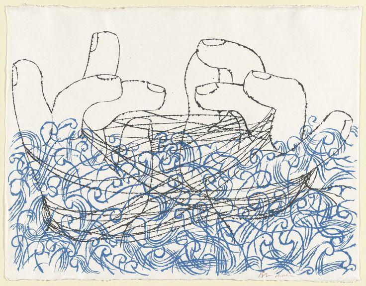 Ben Shahn. Cat's Cradle. 1959. Screenprint. composition