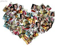 Online heart photo collage maker for multiple love photos