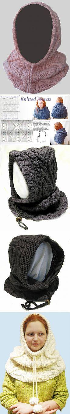 Вязаные шапочки, шарфы и снуды