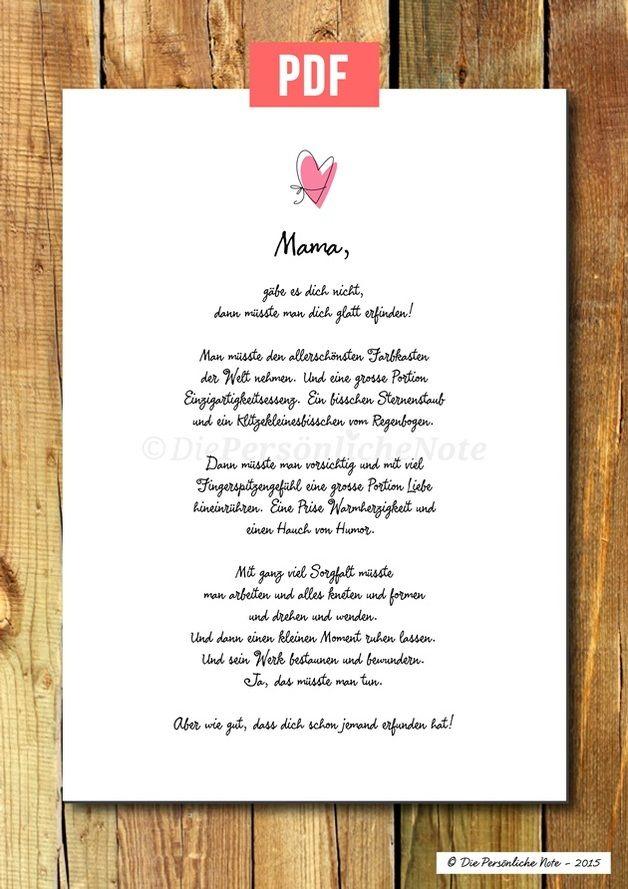 Geschenkidee für die allerletzte Minute: Süße Liebeserklärung zum Muttertag