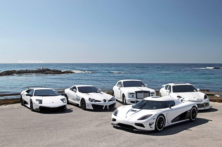 What A Line Up And So Smart In All White Cars Pinterest