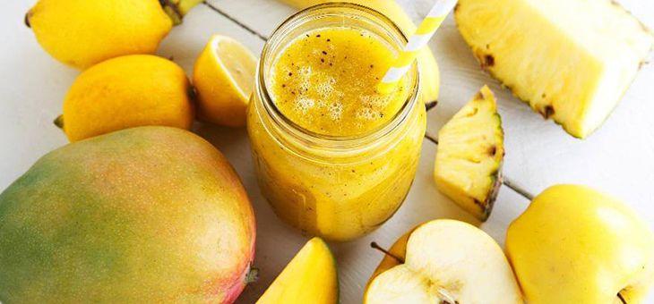 Smoothie tropicale Ananas e zucchine