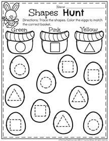 Spring Preschool Worksheets Preschool worksheets, April