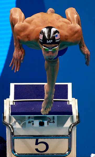 #RIO2016 Michael Phelps of the United States competes in the first Semifinal of…