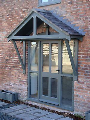 Bespoke service. Timber Front Door Canopy Porch Hand made Oak | eBay