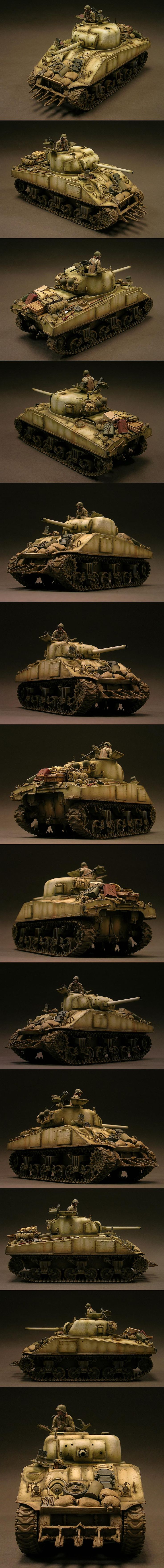 M4 Sherman 743rd TB Malmedy 1945. Model by Dinesh Ned.