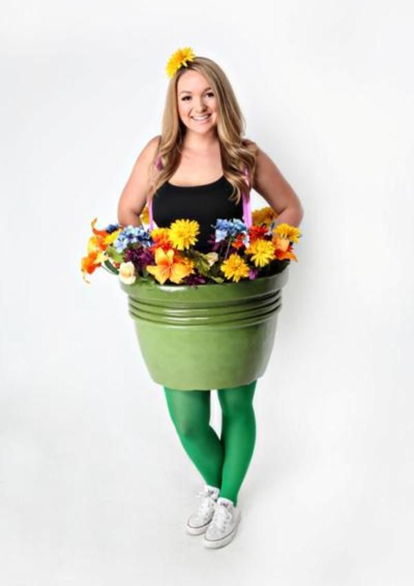 Flowers make every girl happy; follow these easy steps to make an adorable flower pot costume this Halloween!