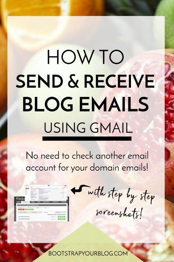 Learn how to send and receive blog domain emails via your personal Gmail account - no need to use another email account for your blog!