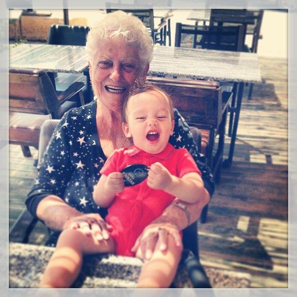 Aunt Ana & my boy, Deniz (Kaikias, Bozcaada)