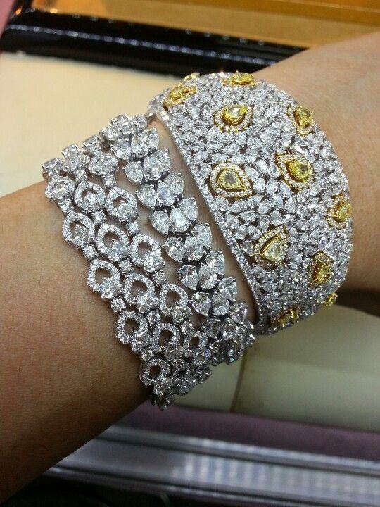fancy diamonds bracelet