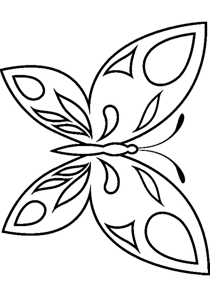 coloring page butterfly templates
