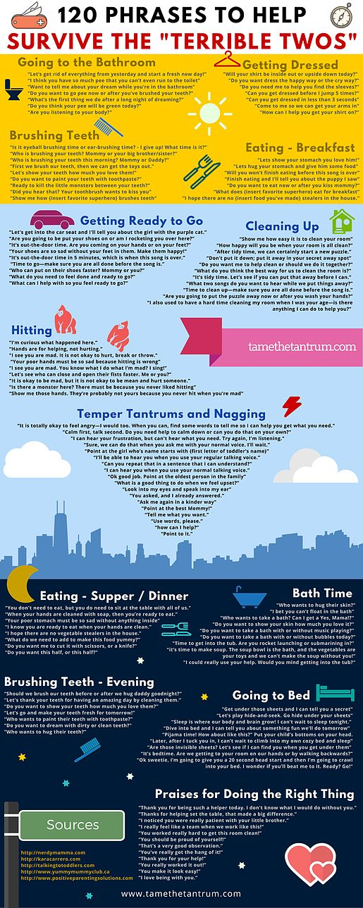 """120 Phrases to Help Survive the """"Terrible Twos""""   Tame the Tantrum"""