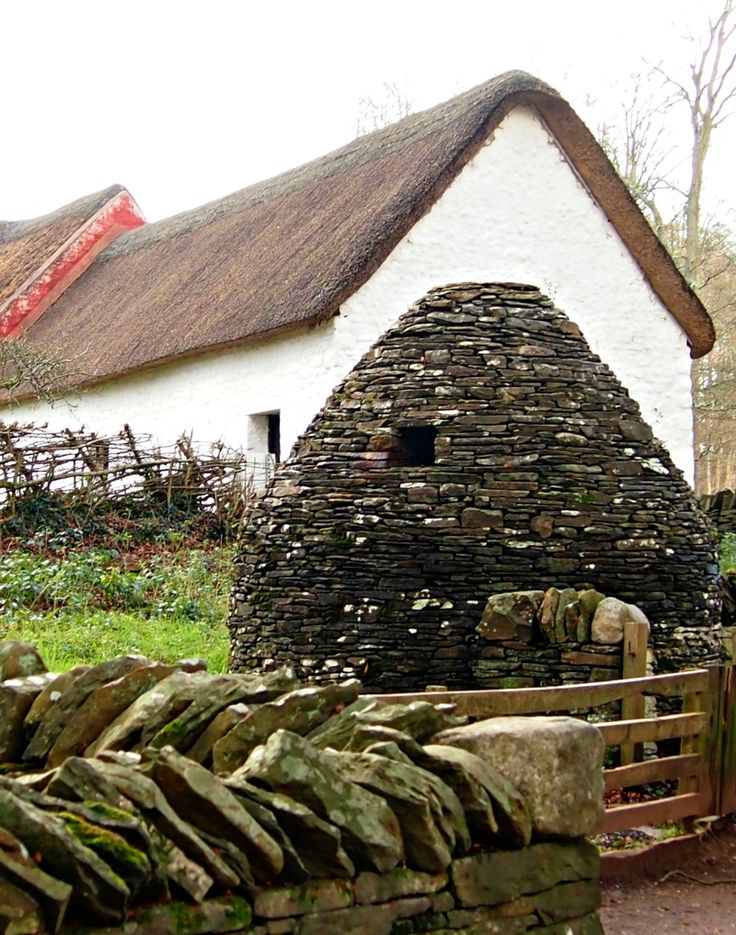 A pig sty from the Wales of yesteryear at the Museum of Welsh Life at St Fagans near Cardiff.