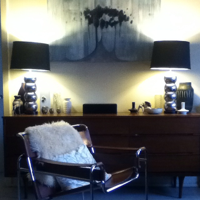 70ies Knoll Wassily chair (250) and credenza (40) from