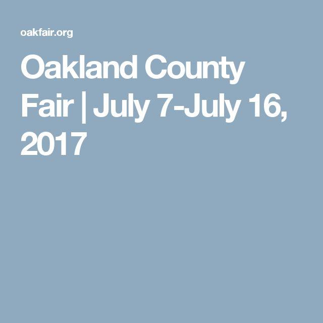 Oakland County Fair | July 7-July 16, 2017