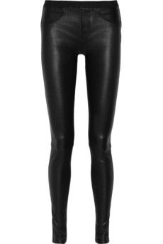 Helmut Lang Stretch-leather leggings | NET-A-PORTER
