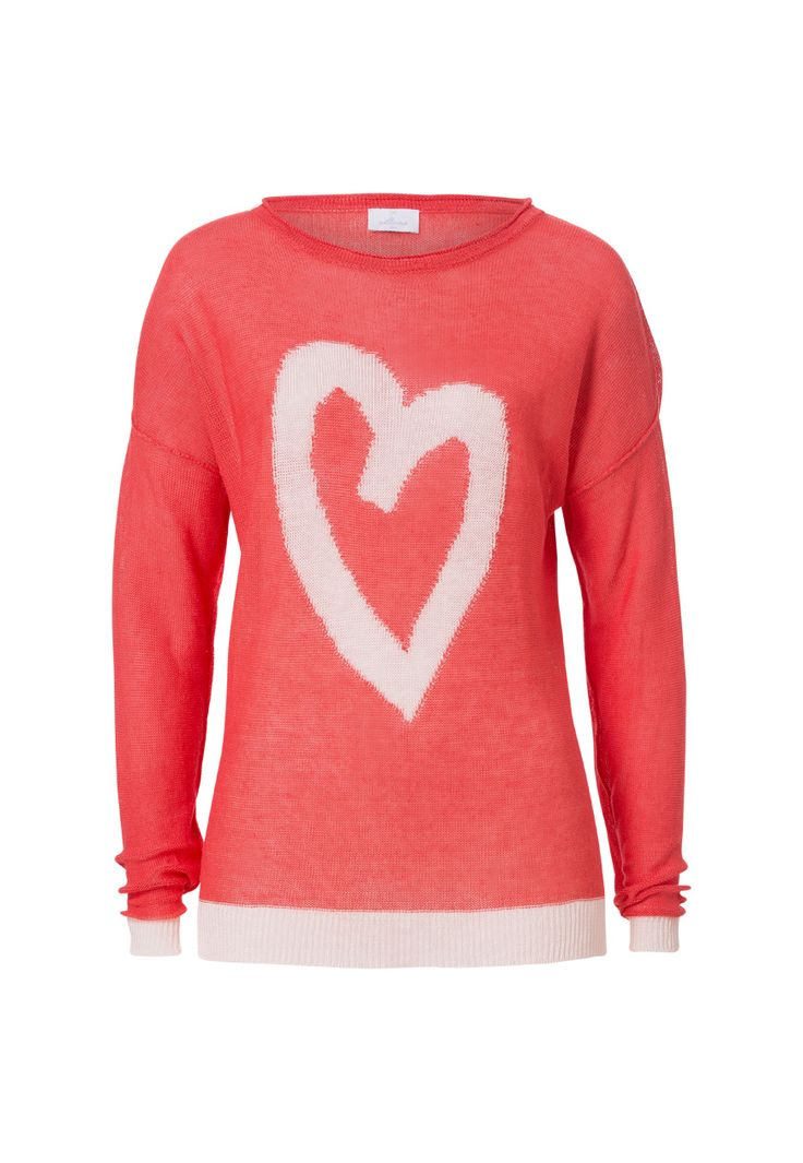 Knit Oversized Heart Jumper