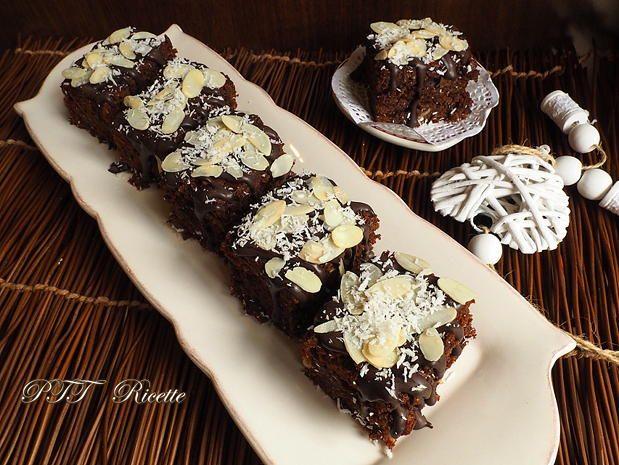 Torta al cioccolato con cocco e banane senza burro 4