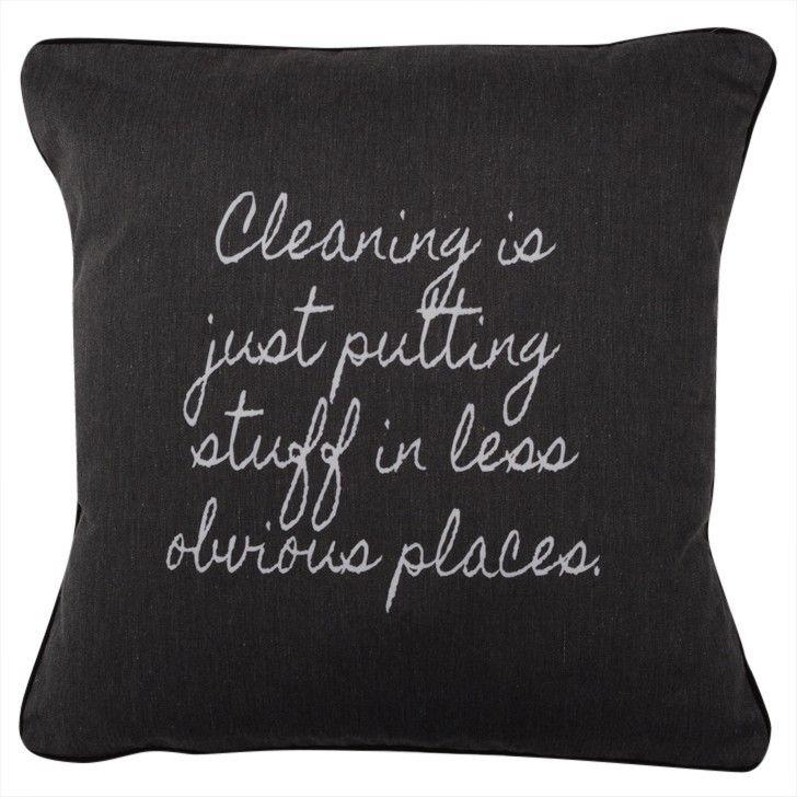 CUSHI   Cleaning Is Cushion #pillow #cushion #homedecor