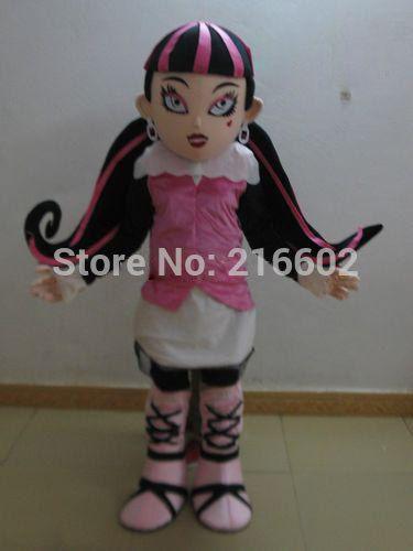 High quality vampire draculaura mascot costumes for adults advertising mascot animal costume school mascot fancy dress costumes #Affiliate