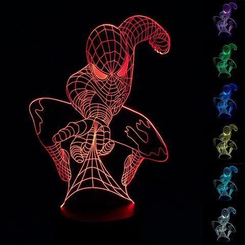 Spiderman 3D Illusion LED Lamp - Design 1