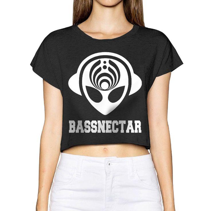 2017 Bassnectar Alien Head. Women New 3D Print Summer Fashion Crop Tops Street t shirt Bare Midriff Sexy T-Shirt free shipping #Affiliate