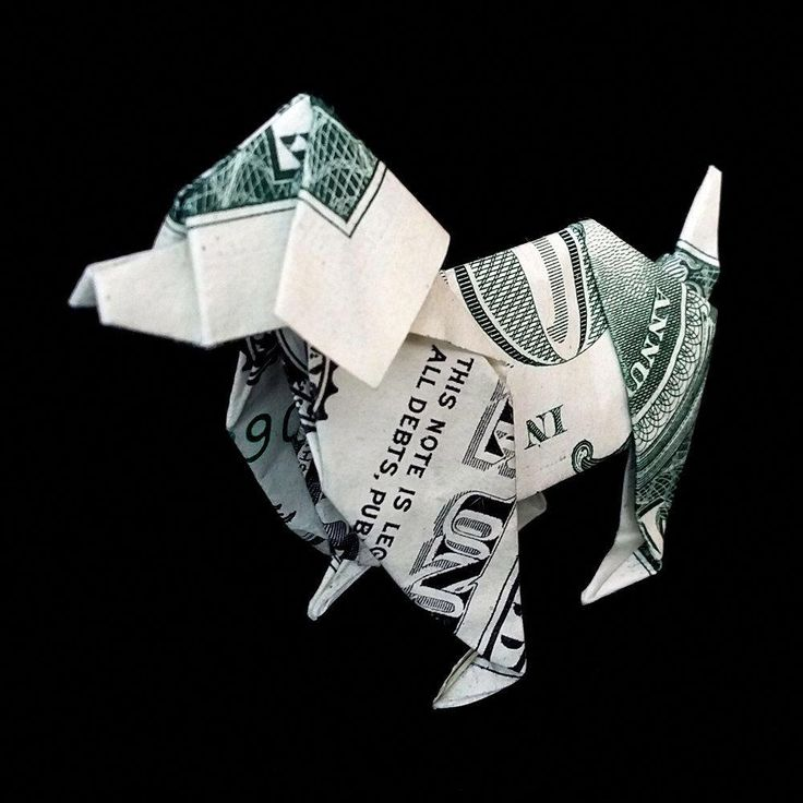 оригами в картинках из купюр мне кажется
