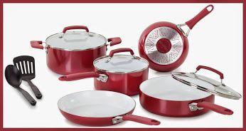 T-fal C921SE Initiatives Ceramic Nonstick Dishwasher Safe Oven Safe Healthy PTFE-PFOA-Cadmium Free Cookware Set, 14-Piece, Black http://theceramicchefknives.com/ceramic-cooking-pots/
