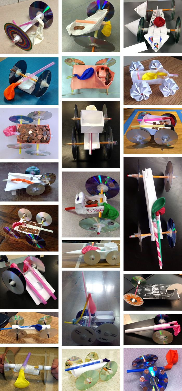 2015 Fluor Engineering Challenge sample of entries for balloon-powered car challenge