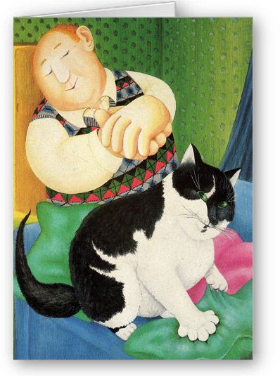 Beryl Cook - Contented Couple *