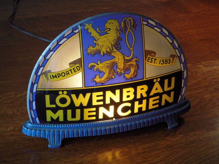 Lowenbrau Beer Gillco Cab Light Sign Rare Label