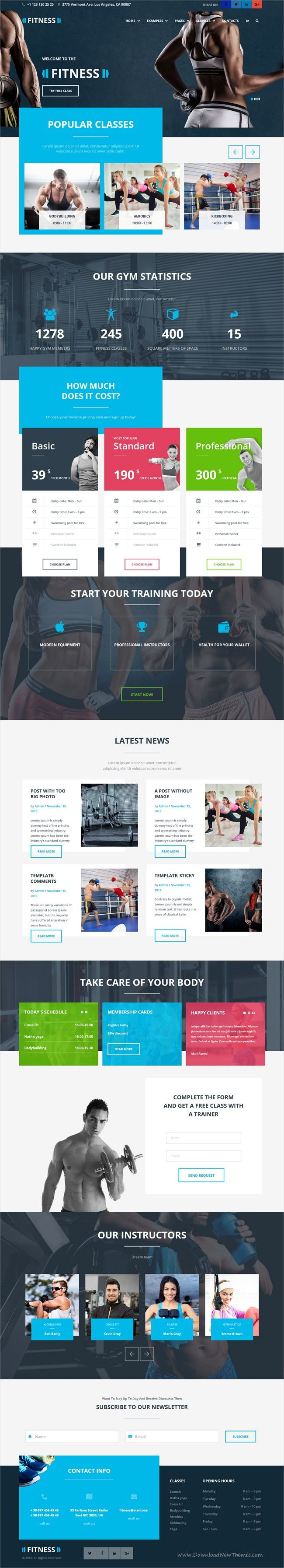 The Fitness is a premium responsive #WordPress theme for #fitness studios, personal #trainers and #gym clubs website 8 header style download now➩ https://themeforest.net/item/the-fitness-gym-yoga-fitness-and-personal-trainer-wordpress-theme/19353563?ref=Datasata