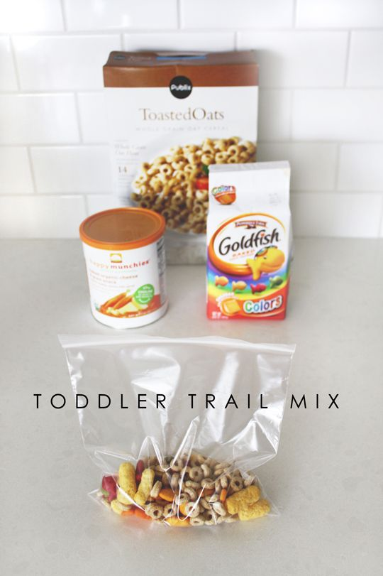 Kids snack ideas: Toddler trail mix