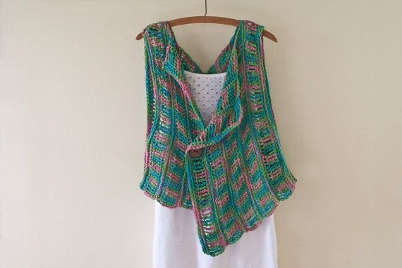 Crochet Pattern Spring Breeze Silk Vest from HiddenMeadowCrochet at Etsy