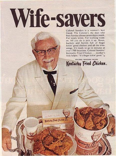 Vintage KFC Ad - 1968 The original Colonel. He was neither creepy nor snotty like the new one.