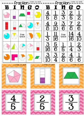 This product offers two different fraction bingo game board versions. The calling cards have also been designed to be used as three additional cooperative learning experiences giving you 4 games in one! $