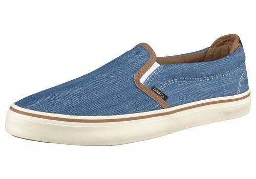 #O´NEILL #Herren #Delmar #Slipo #Sneaker #blau - Fischgratoptik mit Kontrastdetails. SchHerrenr Gummizug seitlich. Stabilisierende Fersenkappe. Profilierte Gummilaufsohle. Textilobermaterial. Obermaterial: Textil.