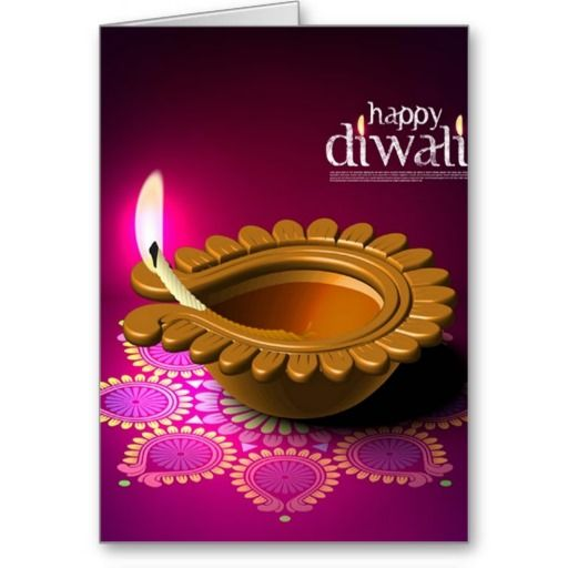 Beautiful Purple Background Diwali Lamp   Diwali wishes