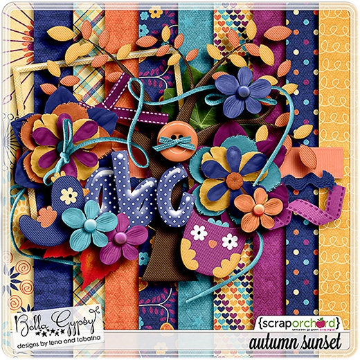 Autumn Sunset -  September 2012 Exclusive Facebook Fan Freebie from Bella Gypsy!!