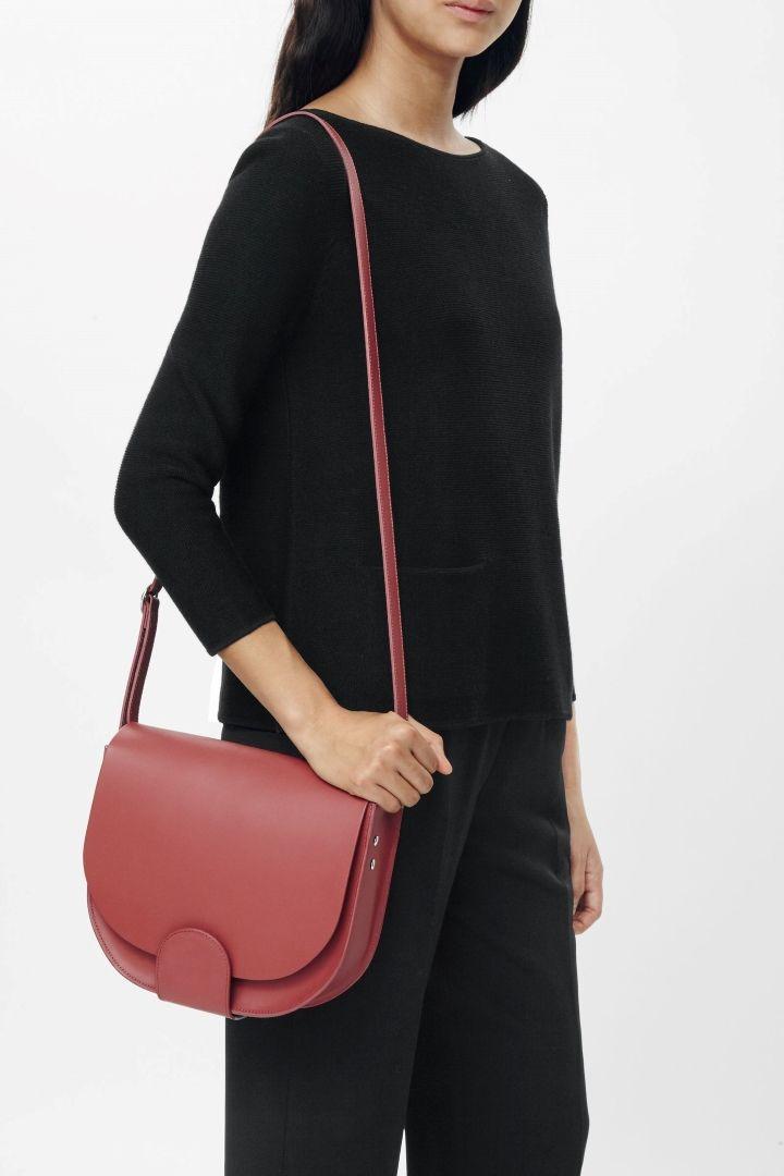 COS | Leather saddle bag