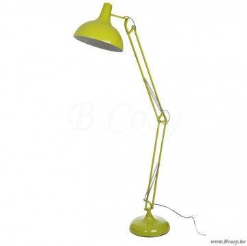 """J-Line Staande lamp bureau groen 190h <span style=""""font-size: 0.01pt;"""">Jline-by-Jolipa-44597-lampe-de-lecture-moderne-en-metal-vert-pomme</span>"""