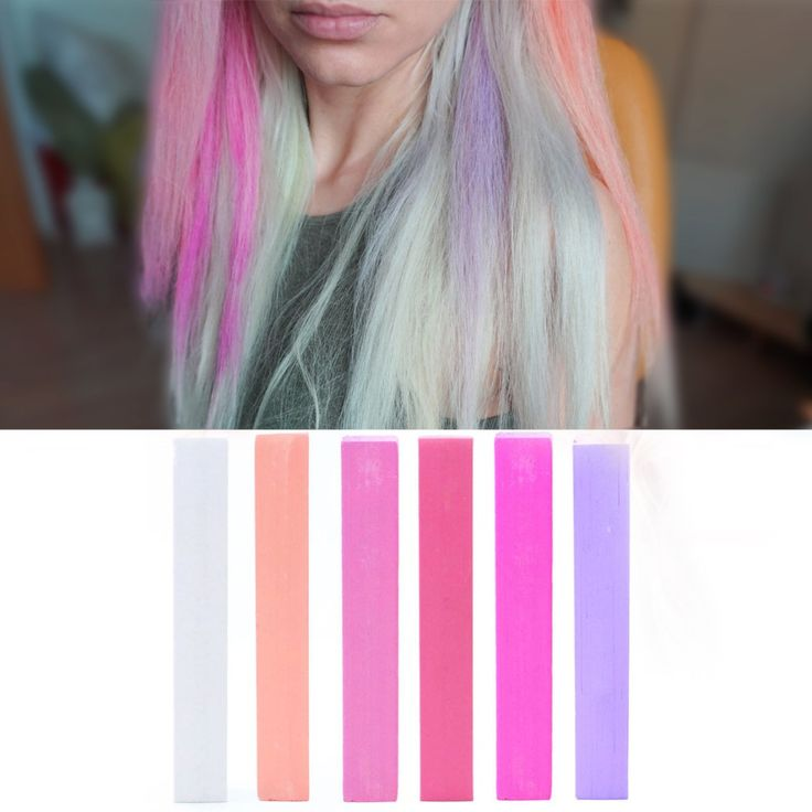 Temporary Electric Ombre Hair Dye | PARTY hair chalk set of 6 | Crazy Purple Pink Ombre HairChalk