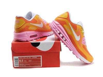 cheap discount nike air max 90 lunar shoes pink orange online hot sale free shipping