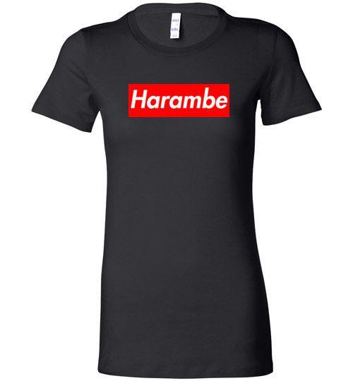 Harambe Supreme Bella Ladies Tee - Made in USA Shirt