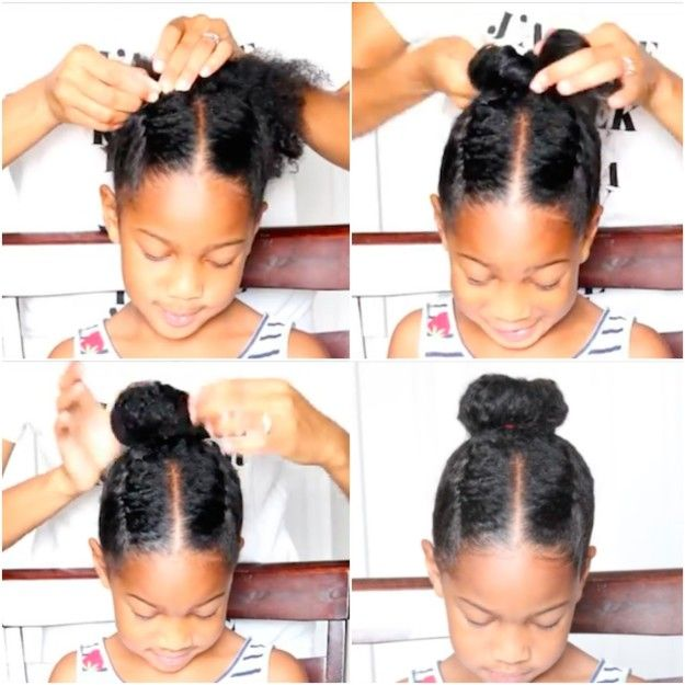 And a bun plus braids might be even better.   17 Lazy-Parent Hairstyle Ideas Kids Will Love