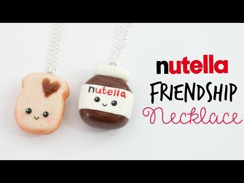 DIY Nutella Friendship Necklace - Nutella & Toast - YouTube